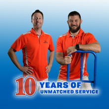 10 years of unmatched service